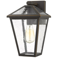 Z-Lite 579M-ORB Talbot 1 Light 13 inch Rubbed Bronze Outdoor Wall Sconce in Seedy Glass
