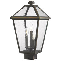 Z-Lite 579PHBS-ORB Talbot 3 Light 19 inch Rubbed Bronze Outdoor Post Mount Fixture in Seedy Glass
