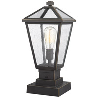Z-Lite 579PHMS-SQPM-ORB Talbot 1 Light 18 inch Rubbed Bronze Outdoor Pier Mounted Fixture