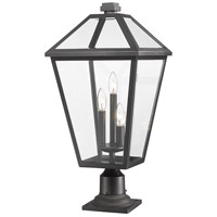 Z-Lite 579PHXLR-533PM-BK Talbot 3 Light 26 inch Black Outdoor Pier Mounted Fixture