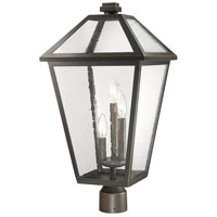 Z-Lite 579PHXLR-ORB Talbot 3 Light 24 inch Rubbed Bronze Outdoor Post Mount Fixture in Seedy Glass