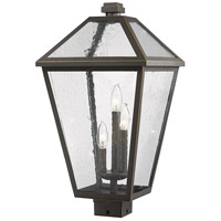 Z-Lite 579PHXLS-ORB Talbot 3 Light 23 inch Rubbed Bronze Outdoor Post Mount Fixture in Seedy Glass