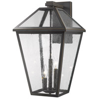 Z-Lite 579XL-ORB Talbot 3 Light 21 inch Rubbed Bronze Outdoor Wall Sconce in Seedy Glass