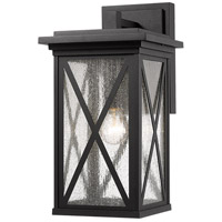 Z-Lite 583B-BK Brookside 1 Light 18 inch Black Outdoor Wall Sconce
