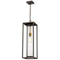 Z-Lite 584CHB-DBZ-OBS Dunbroch 1 Light 8 inch Deep Bronze and Outdoor Brass Outdoor Chain Mount Ceiling Fixture