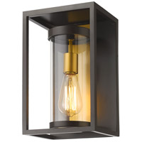 Z-Lite 584S-DBZ-OBS Dunbroch 1 Light 13 inch Deep Bronze and Outdoor Brass Outdoor Wall Sconce