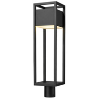 Z-Lite 585PHBR-BK-LED Barwick LED 27 inch Black Outdoor Post Mount Fixture