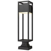 Z-Lite 585PHBS-SQPM-BK-LED Barwick LED 28 inch Black Outdoor Pier Mounted Fixture