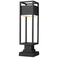 Z-Lite 585PHMS-SQPM-BK-LED Barwick LED 22 inch Black Outdoor Pier Mounted Fixture
