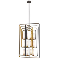 Aideen 12 Light 24 inch Bronze Gold Pendant Ceiling Light