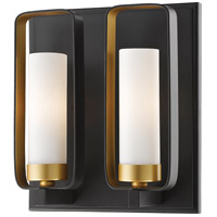 Z-Lite 6000-2S-BZGD Aideen 2 Light 9 inch Bronze Gold Wall Sconce Wall Light