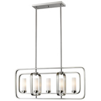 Aideen 5 Light 32 inch Brushed Nickel Island Light Ceiling Light