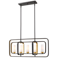 Aideen 5 Light 32 inch Bronze Gold Island Light Ceiling Light