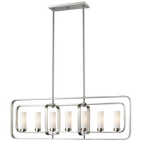 Aideen 7 Light 42 inch Brushed Nickel Island Light Ceiling Light