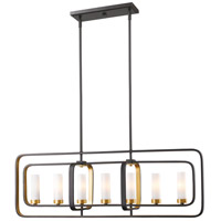 Aideen 7 Light 42 inch Bronze Gold Island Light Ceiling Light