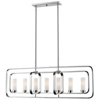 Aideen 7 Light 42 inch Chrome Island Light Ceiling Light