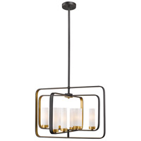Aideen 8 Light 24 inch Bronze Gold Pendant Ceiling Light
