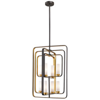 Aideen 8 Light 20 inch Bronze Gold Pendant Ceiling Light