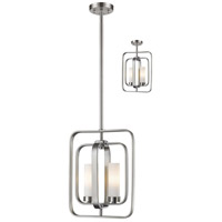Aideen 2 Light 11 inch Brushed Nickel Mini Pendant Ceiling Light