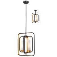 Aideen 2 Light 11 inch Bronze Gold Mini Pendant Ceiling Light