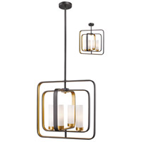 Aideen 4 Light 17 inch Bronze Gold Pendant Ceiling Light