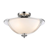 Z-Lite Jaula 3 Light Semi Flush Mount in Chrome 6001SF16