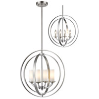Ashling 4 Light 20 inch Brushed Nickel Pendant Ceiling Light