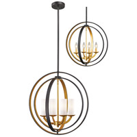 Ashling 4 Light 20 inch Bronze Gold Pendant Ceiling Light