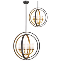 Ashling 6 Light 24 inch Bronze Gold Pendant Ceiling Light