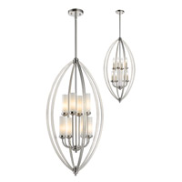 Z-Lite Jaula 8 Light Pendant in Brushed Nickel 6003-8