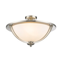 Z-Lite Jaula 3 Light Semi Flush Mount in Brushed Nickel 6003SF16