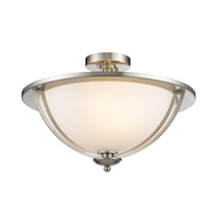 Z-Lite Jaula 4 Light Semi Flush Mount in Brushed Nickel 6003SF20