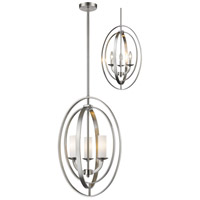 Ashling 3 Light 15 inch Brushed Nickel Pendant Ceiling Light