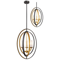 Ashling 3 Light 15 inch Bronze Gold Pendant Ceiling Light