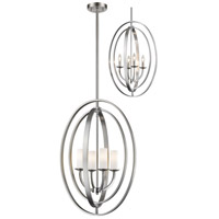 Z-Lite 6004-4L-BN Ashling 4 Light 19 inch Brushed Nickel Pendant Ceiling Light