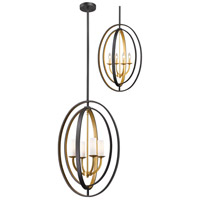 Ashling 4 Light 19 inch Bronze Gold Pendant Ceiling Light