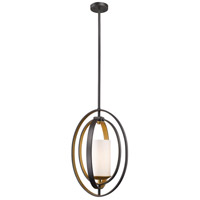 Ashling 1 Light 11 inch Bronze Gold Mini Pendant Ceiling Light