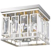 Z-Lite 6006F-BN Mersesse 4 Light 12 inch Brushed Nickel Flush Mount Ceiling Light