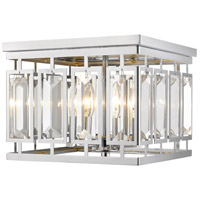 Z-Lite 6006F-CH Mersesse 4 Light 12 inch Chrome Flush Mount Ceiling Light in 10.56 Clear and Chrome