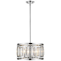 Z-Lite 6007-15CH Mersesse 4 Light 15 inch Chrome Pendant Ceiling Light in 9.02, Clear and Chrome