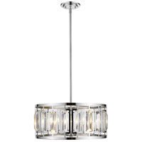 Z-Lite 6007-19CH Mersesse 5 Light 19 inch Chrome Pendant Ceiling Light in 10.56, Clear and Chrome