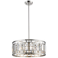 Mersesse 6 Light 23 inch Brushed Nickel Pendant Ceiling Light