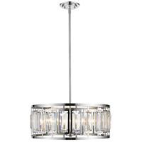 Z-Lite 6007-22CH Mersesse 6 Light 23 inch Chrome Pendant Ceiling Light in 11.66, Clear and Chrome
