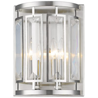 Mersesse 2 Light 9 inch Brushed Nickel Wall Sconce Wall Light