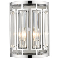 Z-Lite 6007-2S-CH Mersesse 2 Light 12 inch Chrome Wall Sconce Wall Light in 2.42, Clear and Chrome