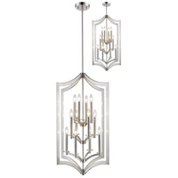 Zander 12 Light 24 inch Brushed Nickel Pendant Ceiling Light