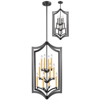 Zander 12 Light 24 inch Bronze Pendant Ceiling Light