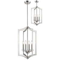 Z-Lite 6008-4BN Zander 4 Light 15 inch Brushed Nickel Pendant Ceiling Light in 15.00