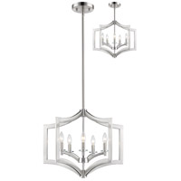 Zander 5 Light 24 inch Brushed Nickel Pendant Ceiling Light in 24.00