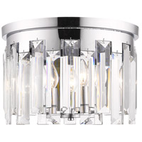 Z-Lite 6009F15CH Cormac 4 Light 16 inch Chrome Flush Mount Ceiling Light in 14